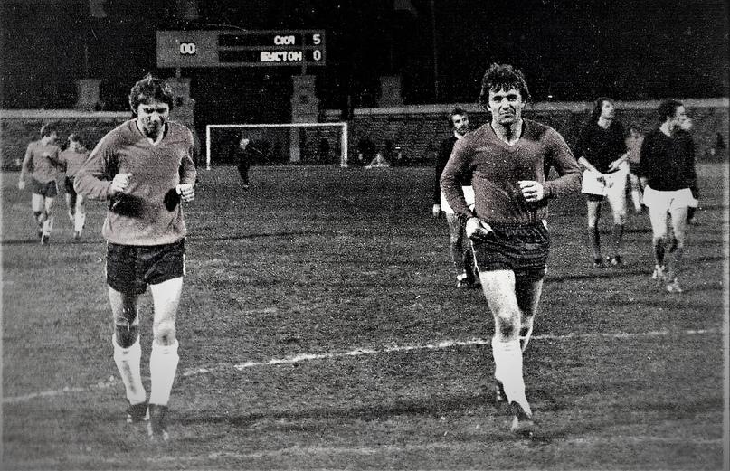 Две «звезды» хабаровского футбола – Геннадий Рютин и Владимир Козлов. Год 1981-й.