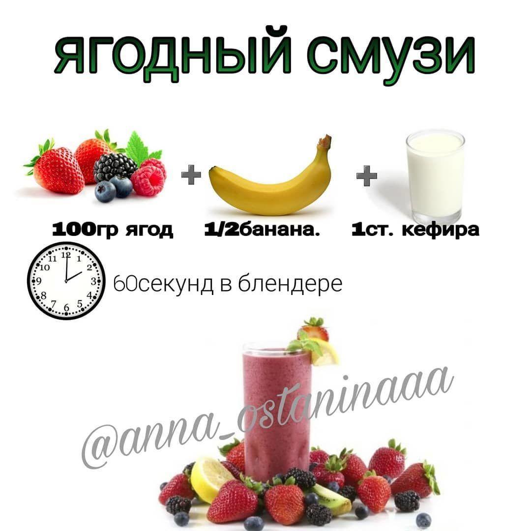 Три вкусных смузи