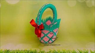 Kurs jak zrobić koszyk origami / 3D origami basket Tutorial DIY