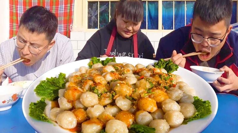 """3斤土豆,陕北特色""""洋芋沫沫"""",劲道爽滑,一上桌全家抢着吃!【陕北霞22"""