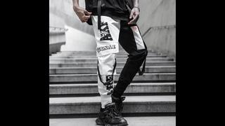 Мужские спортивные брюки карандаш harajuku, повседневные цветные спортивные брюки с принтом в стиле хип хоп, уличная одежда,