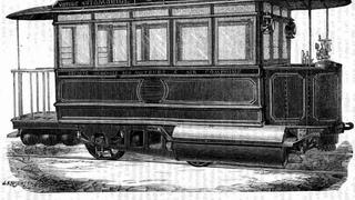 В 1876 году уже ездили пневмо-трамваи