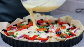 Пицца-пирог из лаваша. Быстрый рецепт без заморочек с тестом