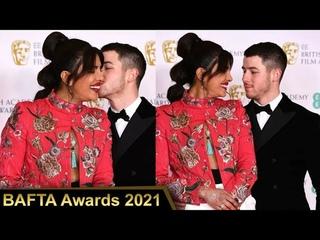 BAFTA 2021   Nick Jonas Kisses Priyanka Chopra On The Red Carpet   First Look