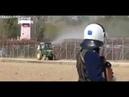 Greek farmers sprayed pig urine on the Greece-Turkish border fence. اليونان تستخدم بول الخنازير