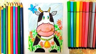 Рисуем милую коровку 🐮