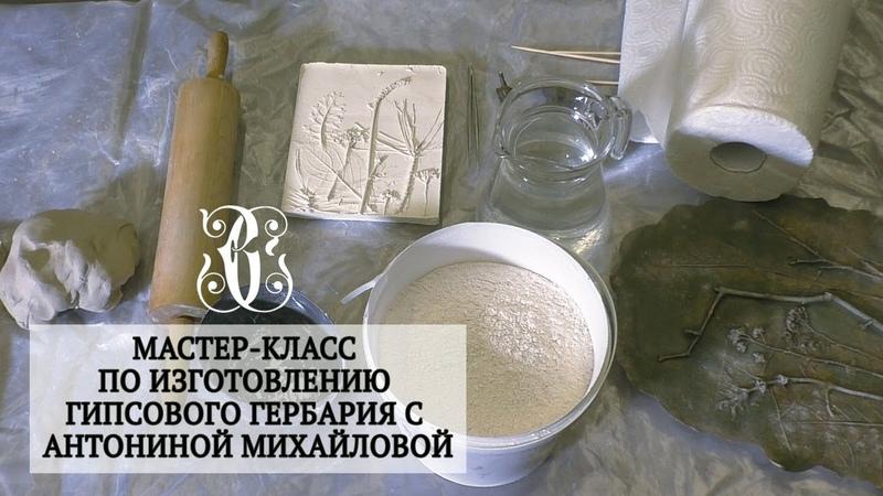 Мастер класс по изготовлению гипсового гербария с Антониной Михайловой