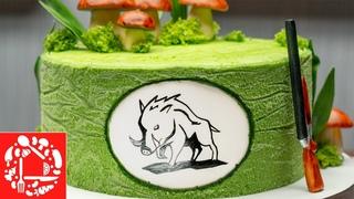 5 Часов За 5 Минут. Как красиво украсить торт мужчине. Торт для охотника