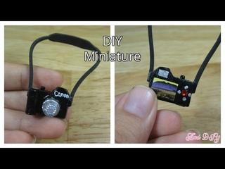 DIY How to make a miniature doll camera / Cách làm máy chụp ảnh cho búp bê / Ami DIY