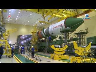 Общая сборка РН Союз-2.1а с ТГК Прогресс МС-15  18 июля 2020 г