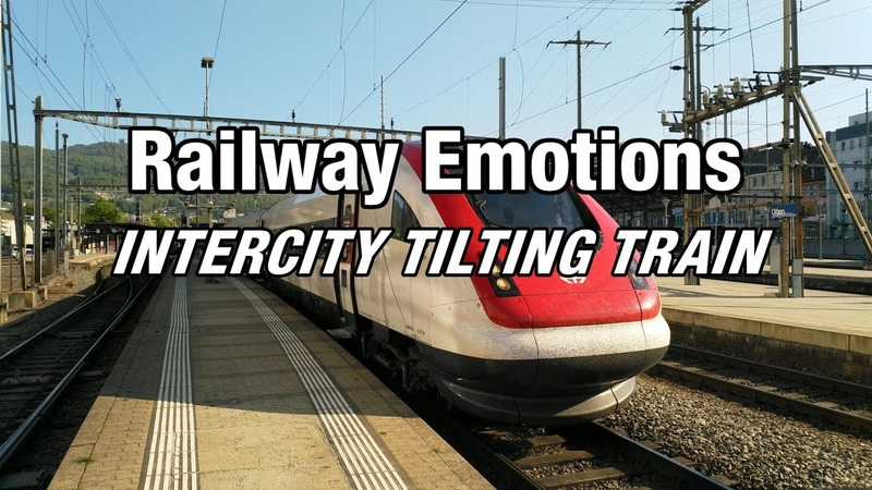 🚆 TILTING TRAIN CAB RIDE with high speeds and fast corners (Switzerland | IC5 Zürich - BielBienne)