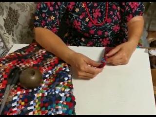 Мастер-класс Ольги Фроловой по плетению коврика.