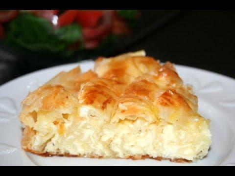 Очень вкусный пирог из лаваша с творогом Баница
