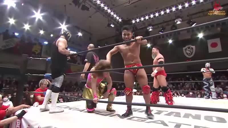 H Y O Takashi Yoshida Diamante vs Dragon Kid Kenichiro Arai Ryo Saito vs Keisuke Okuda Strong Machine J Yosuke Santa Maria