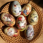 Пасхальные яйца в технике декупаж - МК и идеи