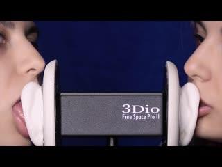 Ear Licking TWIN 4k  3Dio & EAR EATING By ASyMR   Asmr 18+