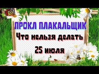 25 июля День Прокла. Народный праздник Прокл Плакальщик. Что нельзя делать. Народные традиции.