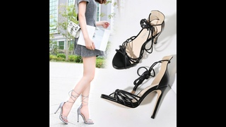New Spring and summer Women's Super high heels sexy Ankle strap Exposed toes fashion Solid Sandals