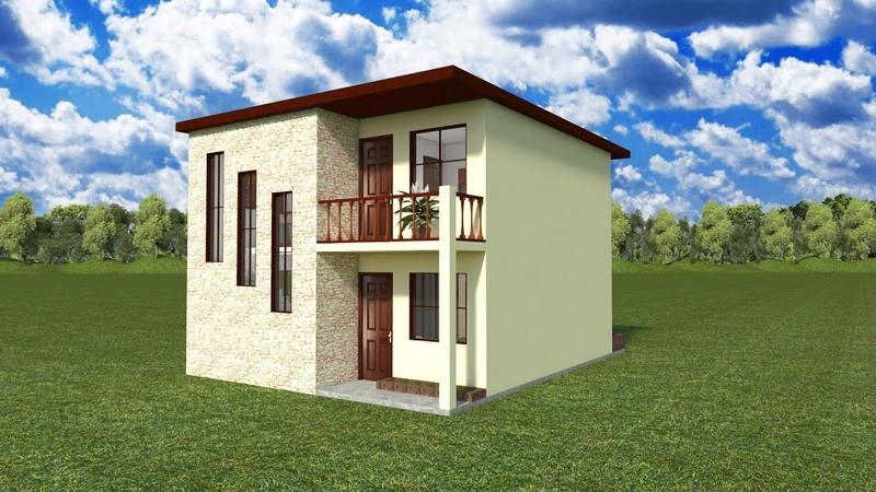 Planos de Casa 7x9 metros 2 plantas 3 Dormitorios 2 Baños 2 salas lavandería y terrazas