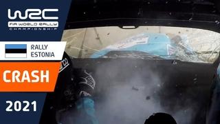 BIG CRASH Molly Taylor - WRC Rally Estonia 2021