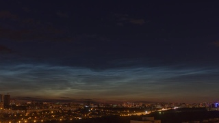 Another noctilucent clouds in Ufa. Timelapse