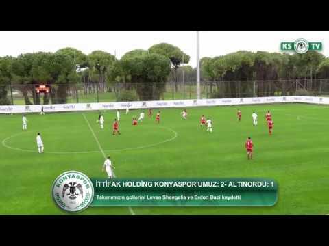 İttifak Holding Konyaspor'umuz özel maçta Altınordu'yu 2-1 yendi