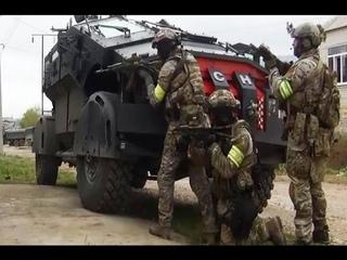 Спецназ «Альфа» ЦСН ФСБ Штурмует террориста в Махачкале оперативная съёмка