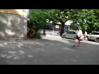 В Ялте чурки вымагают незаконно деньги за парковку июнь 2013