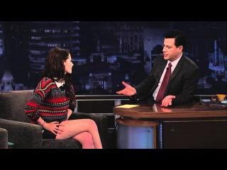 Kristen Stewart on Jimmy Kimmel Live PART 1