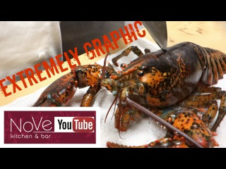 Мастер суши Хироюки Терада разделывает и готовит лобстера / EXTREMELY GRAPHIC: Lobster Cantonese (Chinese Inspired)