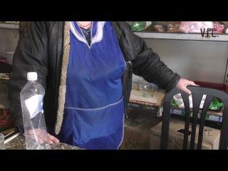 ДНР Старомихайловка: разбомбленный магазин