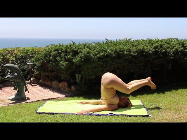 Nearly Nude Yoga by Maren Shoulderstand
