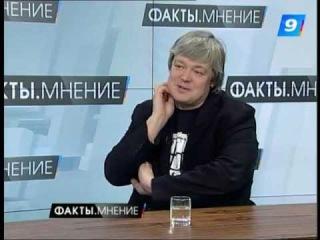 Александр Стриженов дает интервью Девятому каналу