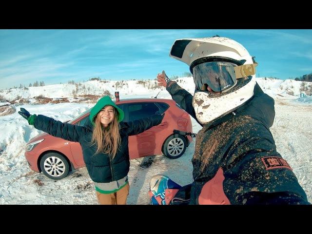 День которого я ждал Winter Dirt Bike riding Pasha Dolenko Vlog 2018