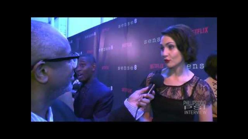 Интервью с Таппенс Миддлтон во время премьеры сериала Восьмое чувство в Сан Франциско 27 мая для The Phillip Siddiq Show