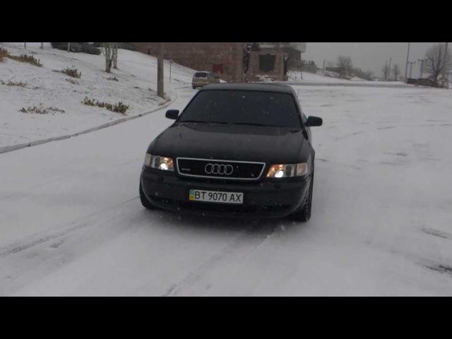 AUDI A8 4.2 D2 quattro snow test полный привод гололёд
