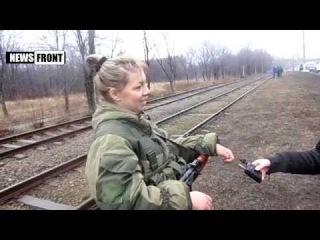 Женщина пришла в ополчение ЛНР защитить семью от украинских нацистов