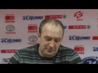 Послематчевая пресс-конференция И.В.Загоскина и Е.В.Ерахтина