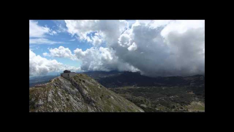 4К video Montenegro Mausoleum Njegos Черногория
