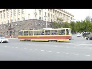 Ростов-на-Дону, Ц. Рынок, трамваи (УКВЗ-71-619, Tatra)