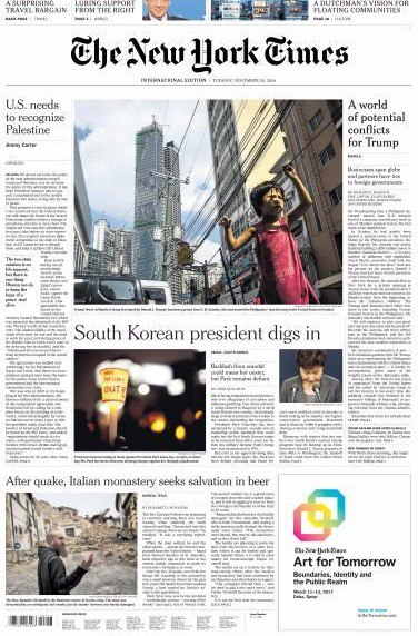 International New York Times - 29 November 2016
