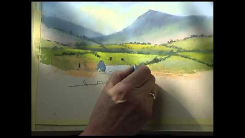 Pastel Demonstration by Jenny Keal Summer of Great Events at Erwood Station