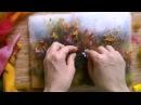 Рисуем ромашки шерстью