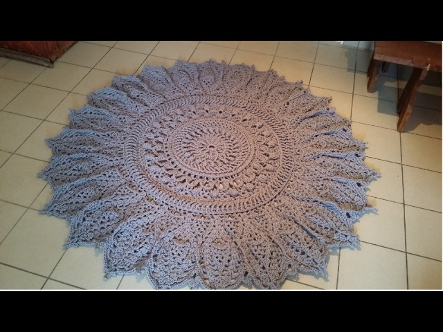 ОГРОМНЫЙ вязаный ковер КАК ЭТО БЫЛО? crochet doily rug