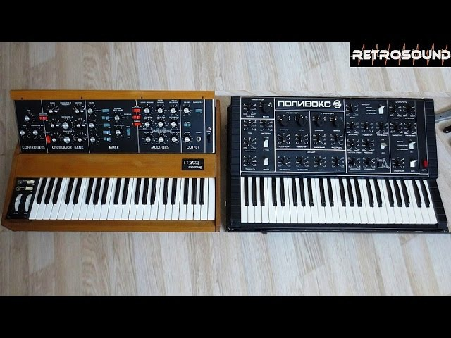 Moog Minimoog vs ПОЛИВОКС синтезатор Polivoks Synthesizer sound battle