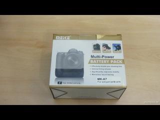 Meike MK-A7 - обзор батарейного блока для Sony a7s / a7s Meike Vertical Battery Grip Unboxing