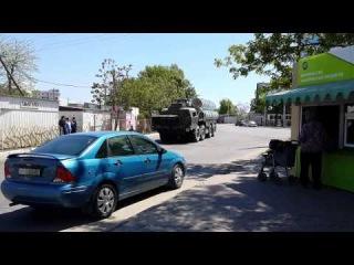 13 мая Одесса передвижение военной техники установки ЗРК С-300