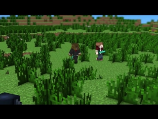 ♪ bajan canadian song a minecraft parody of imagine dragons (music video)