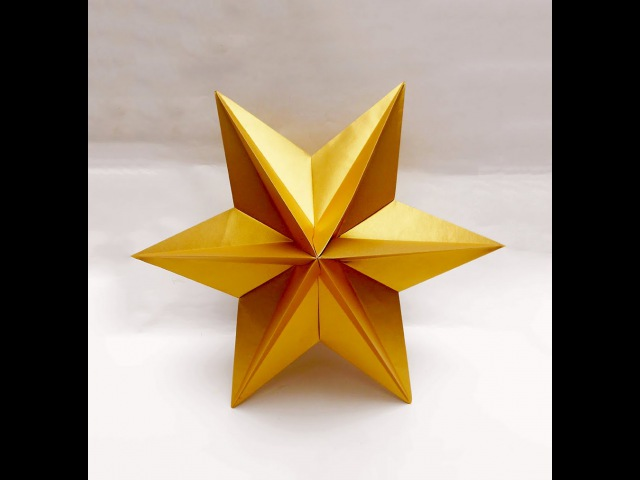 Origami Star easy Ideas for Christmas Origami Dominanta Star Новогодние поделки