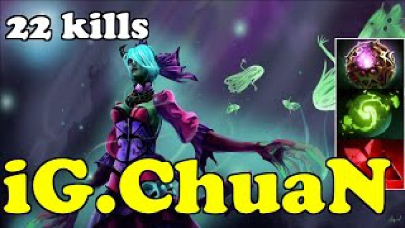 Dota 2 iG.ChuaN Plays Death Prophet - Normal Gameplay Highlights